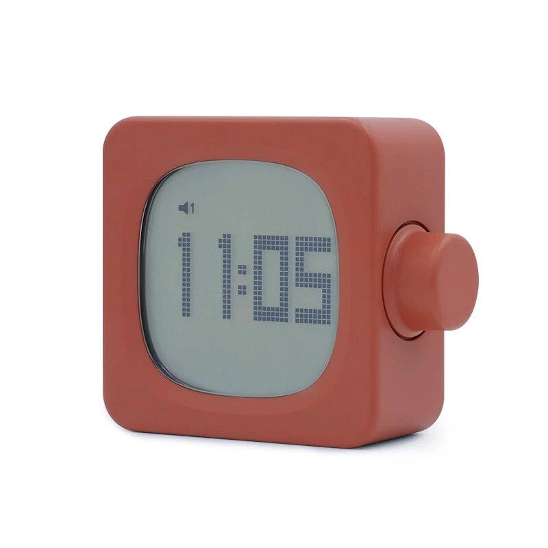 Multi-function Mini Smart Square Alarm Clock USB LED Sound-light Waking Night Light Snooze Alarm Clock for Students Kids