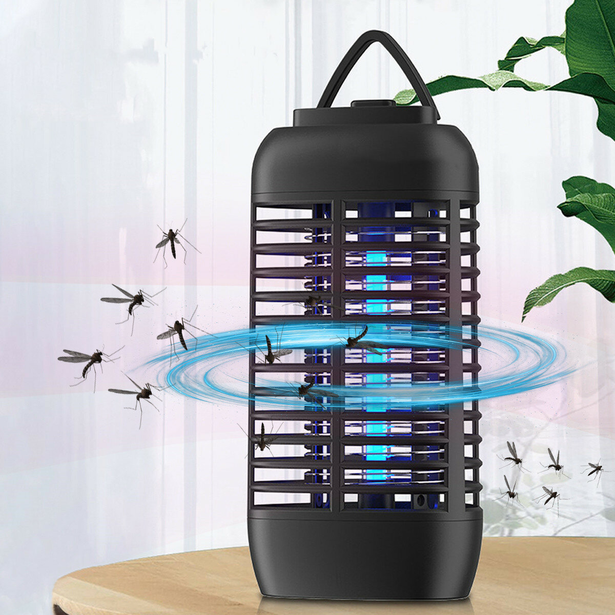 Portable Electronic Insect Killer Outdoor Mosquito Zapper UV Light Pest Trap Fly Gnat Moth Insect Killer for Home Garden