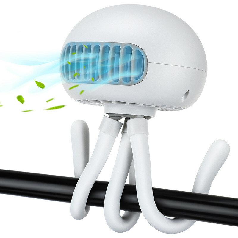 Portable Mini Stroller Fan Handheld USB Car Seat Fan Three Gear 4000mAh Battery Silent Outdoor Fan for Desk Stroller Car Rides