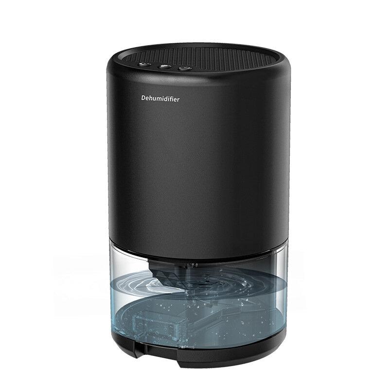 Mini Dehumidifier Air Dryer Moisture Absorber Powerful Dehumidification Negative Ion Sterilization 1000ml Water Tank for Home Bedroom Kitchen Office