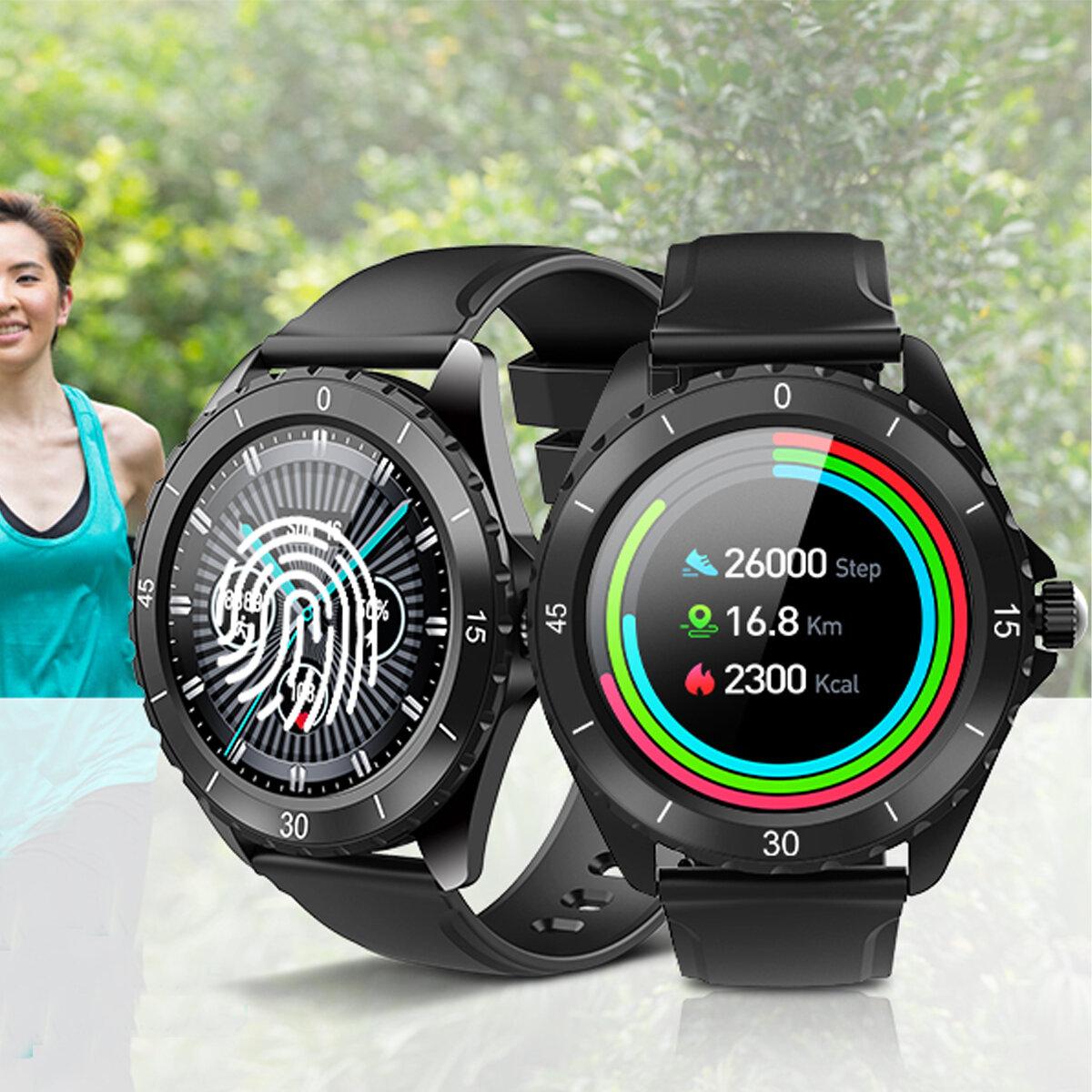 ELEGIANT C520 BT 5.0 1.3 inch Full Touch Screen Heart Rate Sleep Monitor 30 Days Standby IP68 Waterproof Smart Watch