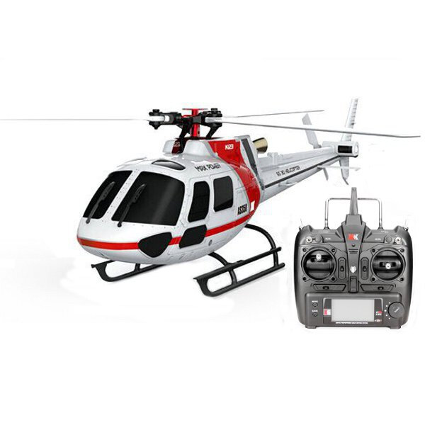 12% OFF for XK K123 6CH Brushless AS350 Scale RC Helicopter RTF Mode 2