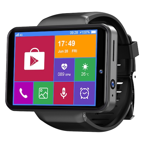 Ticwris Max S 4G Smart Watch Phone Android 7.1 MTK6739 Quad Core 3GB / 32GB Smartwatch Heart Rate Pedometer IP67 Waterproof - Black