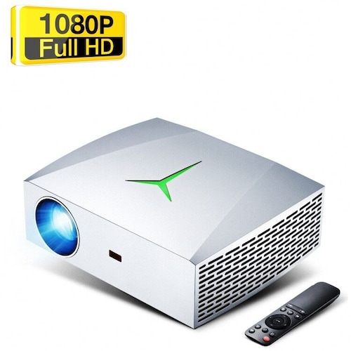 VIVIBRIGHT F40 1080P HD Projector 1920 x 1080 Resolution 4200Lm Portable Home Cinema with Speaker - Silver F40 EU Plug