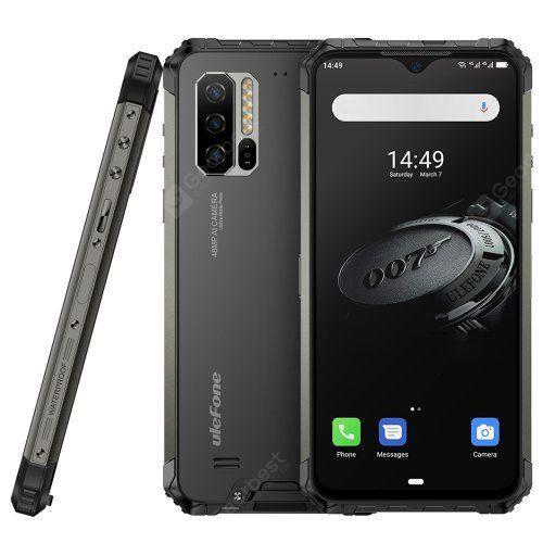 Ulefone Armor 7E 4G Smartphone 6.3 inch FHD + Android 9.0 Helio P90 Octa Core 4GB RAM 128GB ROM 3 Rear Camera 5500mAh IP68 IP69K Waterproof Global Version - Black EU