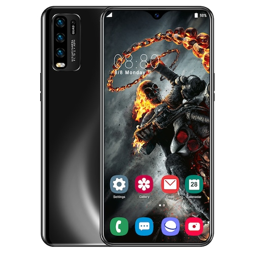 Y50 Pro Smartphone MT6595 Quad Core 6.5 inch Dewdrop Display - Black US Plug