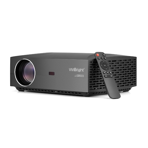 VIVIBRIGHT F30 LCD Projector Home Entertainment Commercial - Black EU Plug
