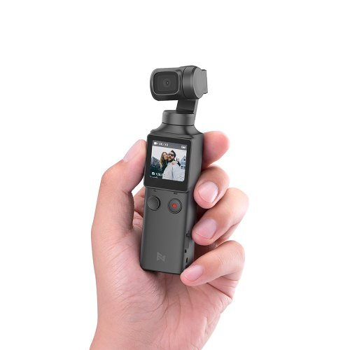 FIMI PALM 3-Axis 4K HD Handheld Gimbal Camera Pocket Stabilizer 128° Super Wide Angle Anti-shake Shoot Smart Track Built-in Wi-Fi Bluetooth Remote Control - Black