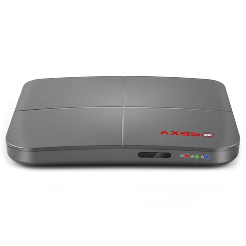 AX95DB Smart 4K 75FPS TV Box with Dolby Sound Effect Amlogic S905X3-B MV BD ISO ARM G31 MP2 GPU 2.4GHz + 5GHz Dua-Band WiFi 100Mbps USB3.0 Bluetooth 4.2 - Gray 4GB RAM + 32GB ROM US Plug