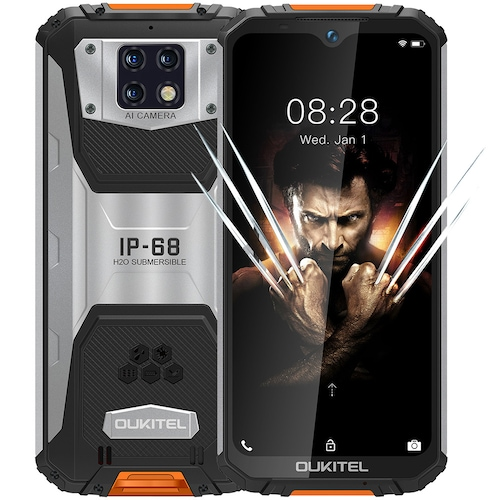 OUKITEL WP6 4G Smartphone 10000mAh Battery 6.3 Inch 48MP+ 5MP+0.3MP Rear Camera 6GB RAM 128GB ROM IP68 Waterproof Global Version - Orange High Edition