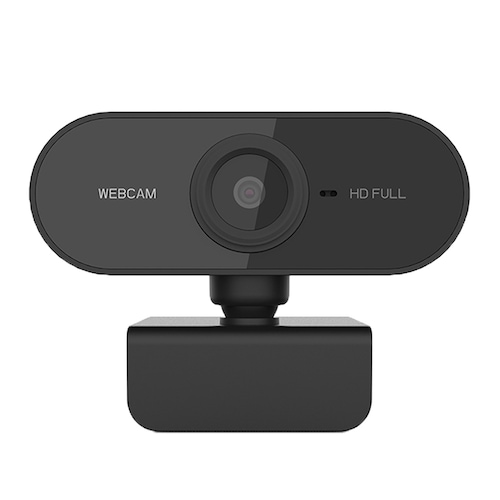 PC-C1 1080P HD Webcam with Mic Rotatable PC Desktop Web Camera Cam Mini Computer Cam Video Recording Work - Black