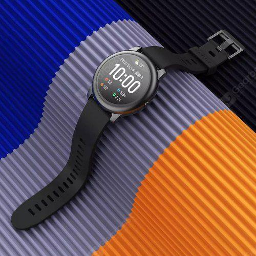Haylou Solar Smart Watch 12 Sports Modes Global Version - Black