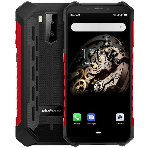 Ulefone Armor X5 4G Smartphone 5.5 inch Android 9.0 MT6763 Octa Core 3GB RAM 32GB ROM 2 Rear Camera 5000mAh Battery Global Version - Red EU