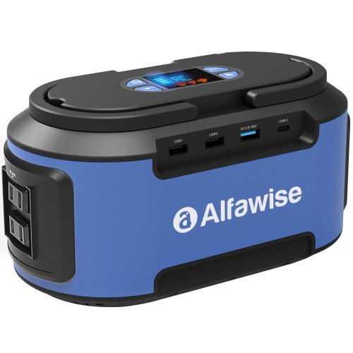 Alfawise S420 220Wh Portable Electricity Power Station Battery Generator - Blue Japan Plug (2-pin)