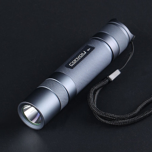 Convoy S2+ SST40 High Power 1800lm Flashlight - Gray 6500K