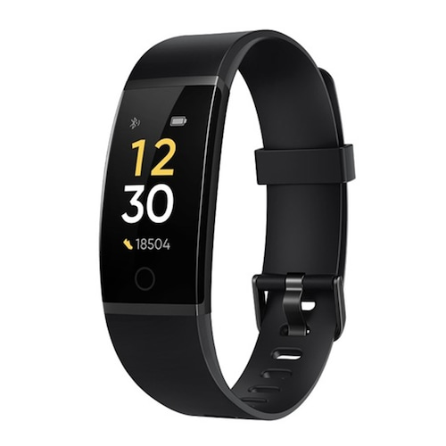 OPPO Realme Band Smart Bracelet Large Color Screen Heart Rate Monitor USB Charging Wristband International Edition - Black