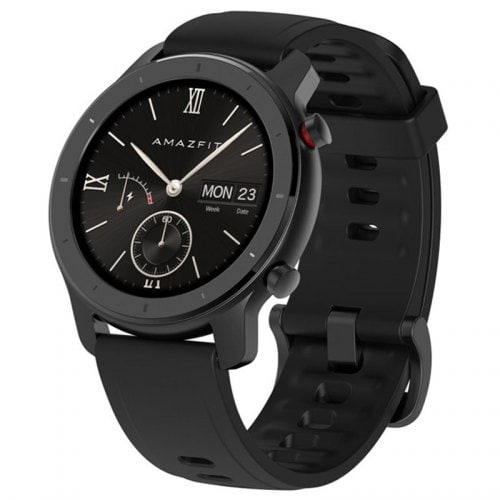 AMAZFIT GTR 42mm Smart Watch 12 Days Battery Life 5ATM WaterproofGlobal Version ( Xiaomi Ecosystem Product ) - Black 42mm Aluminum Alloy Case