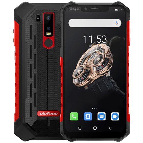 Ulefone Armor 6S 4G Phablet 6.2 inch Android 9.0  6GB RAM 128GB ROM 5000mAh Battery IP68 IP69K - Red