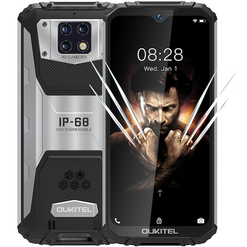 OUKITEL WP6 4G Smartphone 10000mAh Battery 6.3 Inch 48MP+ 5MP+0.3MP Rear Camera 6GB RAM 128GB ROM IP68 Waterproof Global Version - Black High Edition
