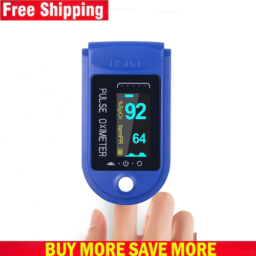 Free Shipping Digital Finger Oximeter Portable Electronic LED Display Fingertip Pulse Oximeter - China Blue
