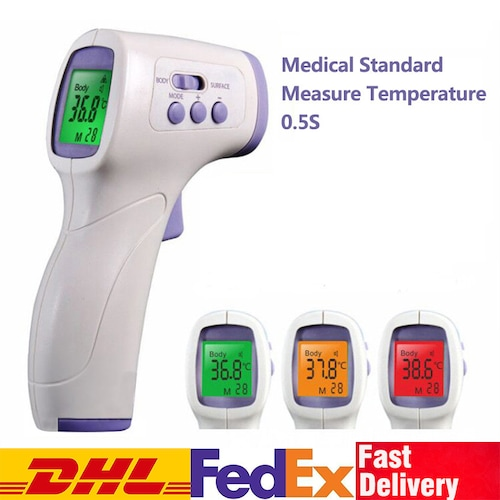 DHL TNT Non-contact Ear Forehead Thermometer for Baby Adult IR Infrared Temperature Measurement LCD - China White