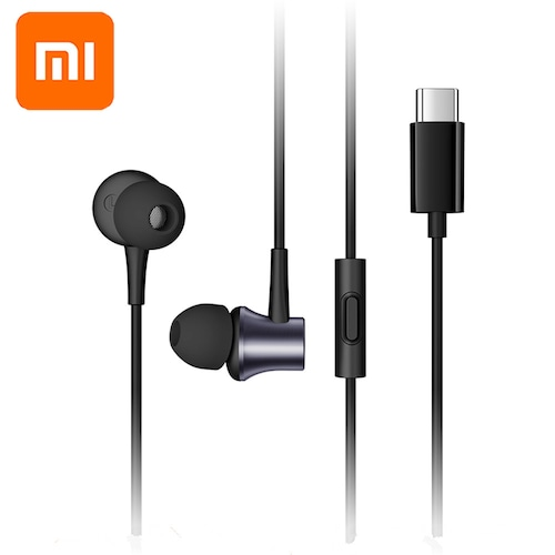 Xiaomi Mi Piston 3 Type C Earphone USB-C in Ear Earbuds for Mi 9 Pro 5G 8 SE Lite 6 6X A2 5 5S Plus 4S MIX 2s 3 MAX 2 3 Note 2 3 - Black