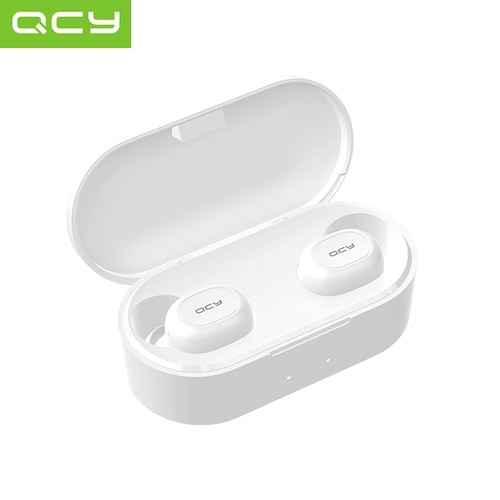 QS2 TWS Bluetooth V5.0 Headset Sports Wireless Earphones 3D Stereo Earbuds  Mini in Ear Dual Microphone With Charging box
