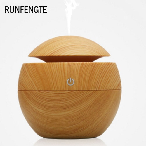 RUNFENGTE USB Mini Aroma Essential Oil Diffuser Ultrasonic Cool Mist Humidifier Air Purifier - Light Wood China USB