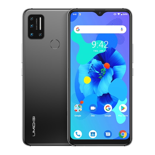 UMIDIGI A7 Android 10 6.49 INCH Large Full Screen 4GB 64GB Quad Camera Octa-Core Processor 4G Global Version Smartphone Pre-sale - Space Gray CHINA