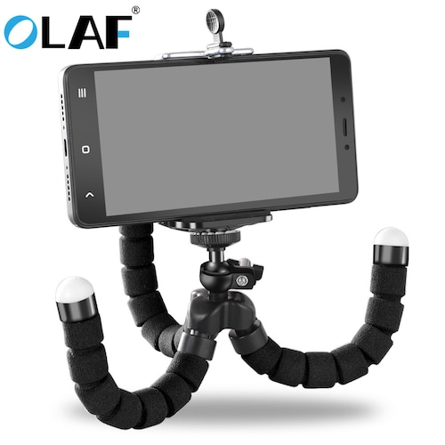 OLAF Phone Holder Flexible Octopus Tripod Bracket Selfie Expanding Stand Mount Monopod Styling Accessories For Mobile Phone - Black China