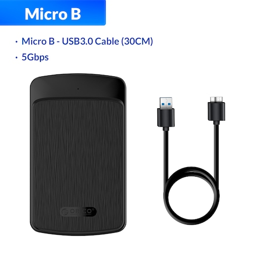 ORICO 2.5 Inch HDD Case SATA 3.0 to USB 3.0 5 Gbps 4TB HDD SSD Enclosure Support UASP HD External Hard Disk Box Black/White - Black China