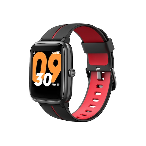 Mobvoi TicKasa Vibrant Smartwatch Built-in GPS 14 Sports Mode Heart Rate Monitoring 45 Days Battery - Black Red Japan
