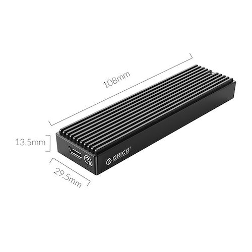 ORICO LSDT M.2 NVME Enclosure USB C Gen2 10Gbps PCIe SSD Case M2 SATA NGFF 5Gbps SSD Case Tool Free For 2230/2242/2260/2280 SSD - M.2 NVME Enclosure - 10Gbps