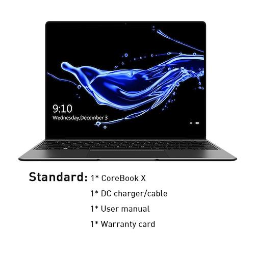 CHUWI CoreBook X Intel Core i5-7267U Laptops 14 Inch 2160x1440 Resolution DDR4 16GB 256GB SSD Winddows 10 Computer 46.2W Battery - Official Standard China