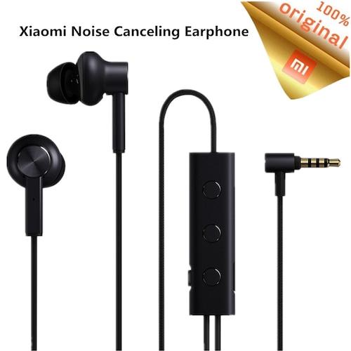 Original Xiaomi ANC Earphone Active Noise Cancelling In-Ear 3.5mm jack  Interface Mic Line Volum Control For Xiaomi A1 Redmi 4X