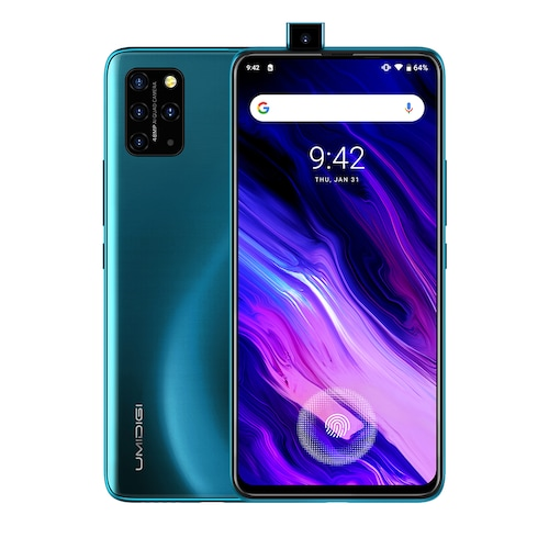 UMIDIGI S5 Pro Helio G90T Gaming Processor 6GB 256GB Smartphone FHD+ AMOLED In-screen Fingerprint Pop-up Selfie Camera - Ocean Blue CHINA