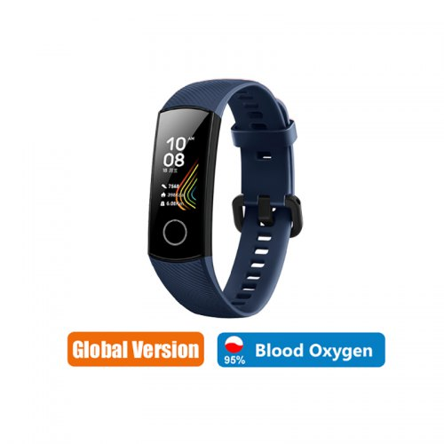 Huawei Honor band 5 Smart Band Global Version Blood Oxygen smartwatch AMOLED - Global Version Blue CHINA