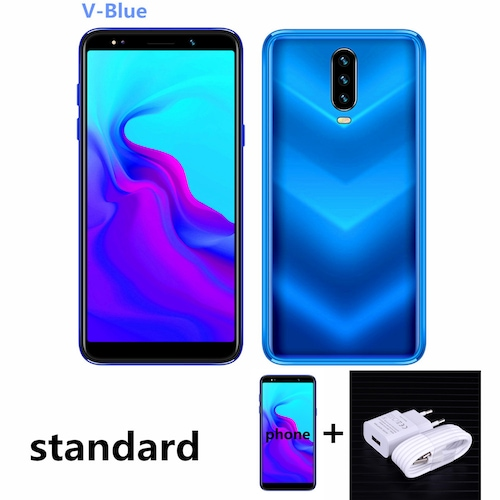 Note 7 Pro Smartphones 4G LTE Celulares 4GB RAM 64GB ROM Quad Core 13MP Camera IPS Android Mobile Phones Face ID Unlocked - 5.5inch-vblue 3G RAM 32G ROM