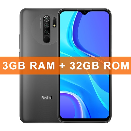 Global Version Redmi 9 Smartphone 3GB 32GB Helio G80 Octa-core 13MP AI Quad Camera 6.53inch Display NFC 5020mAh Battery - 3GB 32GB Grey Offical Standard