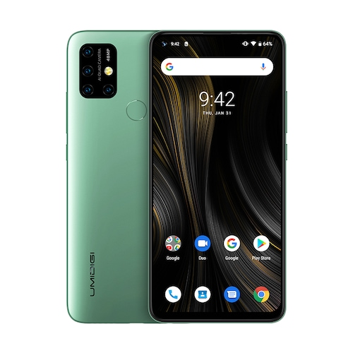UMIDIGI Power 3 Phone Android 10 48MP Quad AI Camera 6150mAh 6.53 inch FHD+4GB 64GB Helio P60 Global Version Smartphone NFC - Midnight Green Offical Standard CHINA
