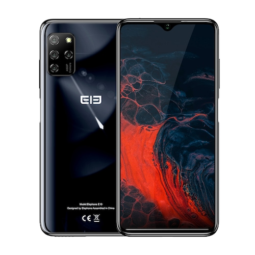 ELEPHONE E10 Octa Core Smartphone 4GB 64GB 6.5 inch Screen Quad Camera 48MP Main Cam Android 10 NFC Side Fingerprint Mobile Phone - Aurora Black 4GB 64GB CHINA