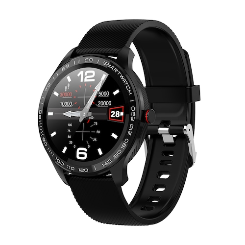 Full Round Touch Screen Stainless Steel Heart Rate Waterproof IP68 Smart  Watch Soft Silicone Men Women Sport Watch