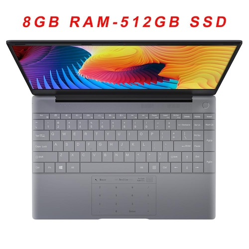 KUU K2 All metal 14.1 inch IPS Screen 8GB RAM 512GB 256GB SSD Fingerprint Notebbok Full Size Backlit laptop Windows 10 Office Game - 8GB RAM-512GB SSD China