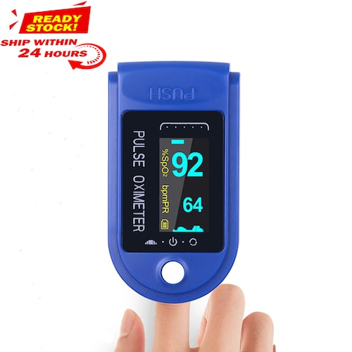 DHL UPS Digital Finger Oximeter Portable Electronic LED Display Fingertip Pulse Oximeter Oxymeter - China Blue