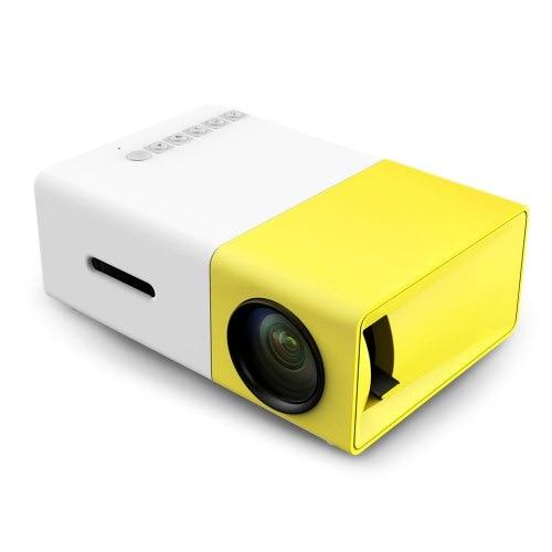 YG - 300 LCD Projector 320 x 240 Home Media Player - Yellow EU Plug