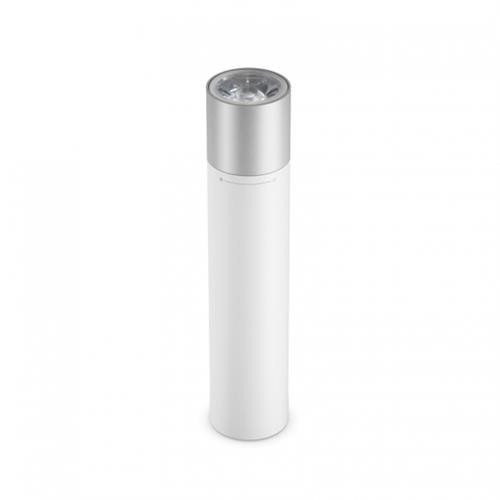 Xiaomi Portable Flashlight 11 Adjustable Luminance Modes With Rotatable Lamp Head 3350mAh Lithium Battery USB Charging Port - White + Silver