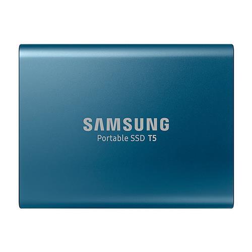 Samsung T5 1TB Portable SSD With USB 3.1 Hardware Encryption - Lake Blue