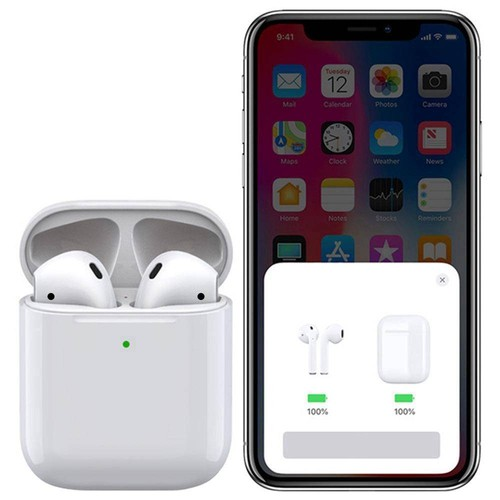 Apods i500 Bluetooth 5.0 Pop-up Window TWS Earbuds Independent Usage Wireless Charging IPX5 - White