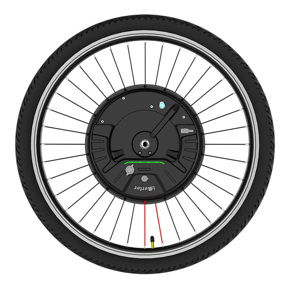 iMortor3 Permanent Magnet DC Motor Bicycle Wheel