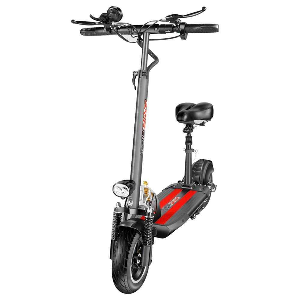 YOUPING Q02 Folding Electric Scooter 500W Motor 36V/10.4Ah Battery 10 Inch Tire Containing Seat - Black